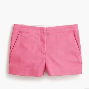 J. Crew size 4 pink chino shorts